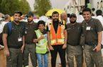فريق(لنسعد التطوعي) تشارك الأهلية في منطقة جازان فرحة العيد