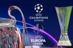 إيقاف دوري أبطال أوروبا والدوري الأوروبي لكرة القدم بسبب كورونا