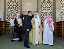 وزير الشؤون الإسلامية يزور جامع الملك فهد بسراييفو