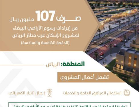 صرف 107 مليون ريال لمشروع الإسكان غرب مطار الرياض