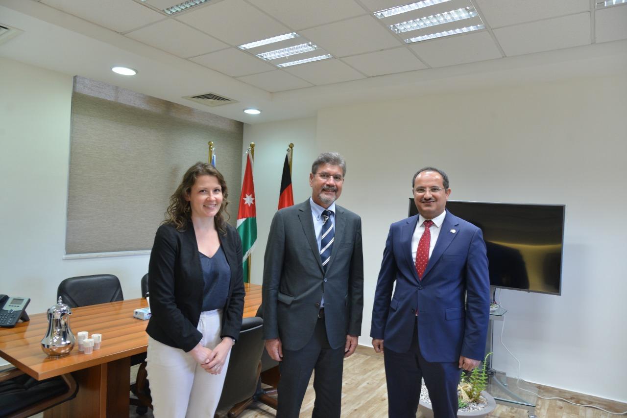 السفير الألماني يزور الجامعة الألمانية الأردنية